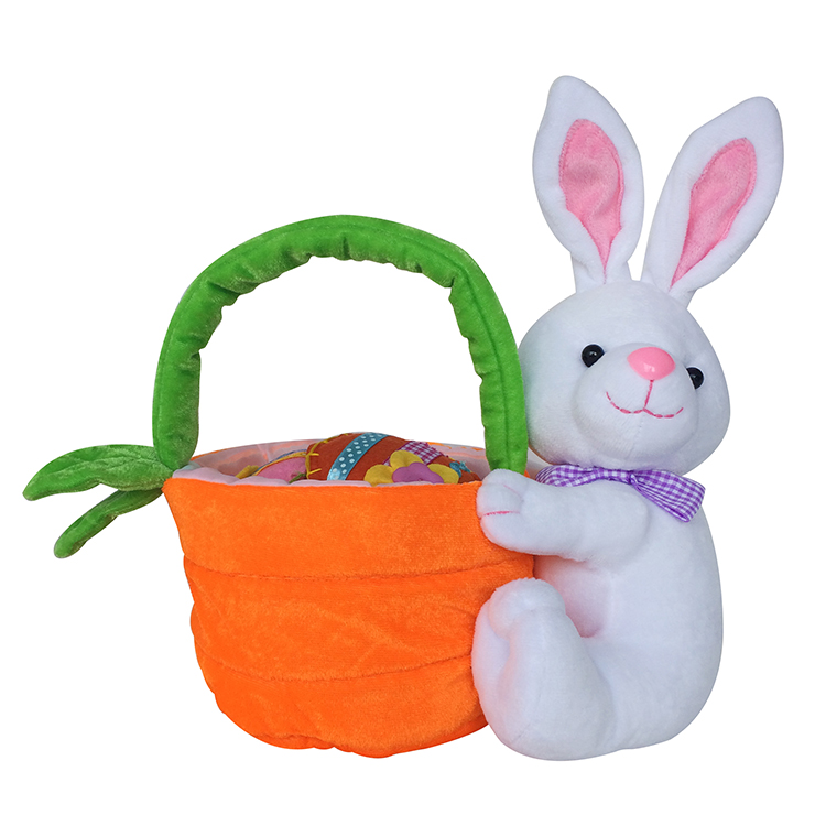 Easter Plush Carrot Candy Bag