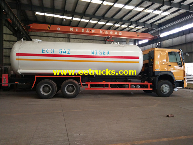 6x4 Propane Delivery Tanker Vehicles