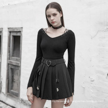 OPT-330 PUNKRAVE Knit T-shirt with collar designer casual long sleeve factory shirt