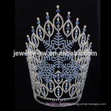 Venda por atacado 2015 a coroa feita sob encomenda da tiara do rhinestone do pageant da aranha do fantasma da abóbora do Dia das Bruxas da venda grande grande