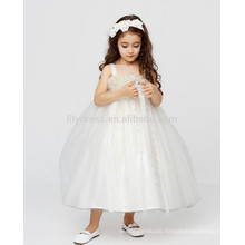 White A-Line Zipper Back Customized Flower Girl Dress Vestidos FGZ42 Long Dresses For Kids