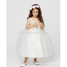 White A-Line Zipper Back Custom Flower Girl Dress Vestidos FGZ42 Vestidos Longos Para Crianças