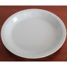 Белый имитация керамической, меламин посуда блюдо (Ср-025)