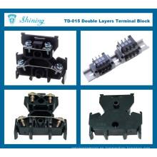 TD-015 Conector de alambre terminal de montaje de superficie negro de alta calidad