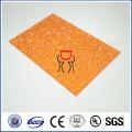 высокое качество цветной тисненый лист поликарбоната