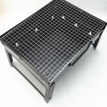 Parrilla de barbacoa cuadrada de hierro fundido de acero inoxidable cuadrado negro resistente