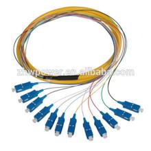 Sc 12 Core Fanout Cinturones de fibra óptica, Sm Simplex 12 Core Pigtail de fibra óptica con precio barato