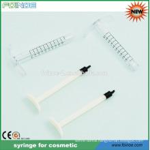 1ml plastic syringe for cosmetic