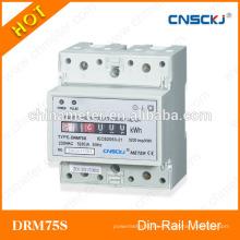 DRM75S monofásicos din-carril digital vatio metro