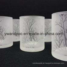 Novo design partido velas perfume em frasco de vidro