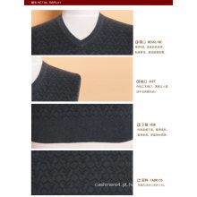 Yak lã / cashmere V Neck Pullover camisola de manga comprida / vestuário / vestuário / malhas