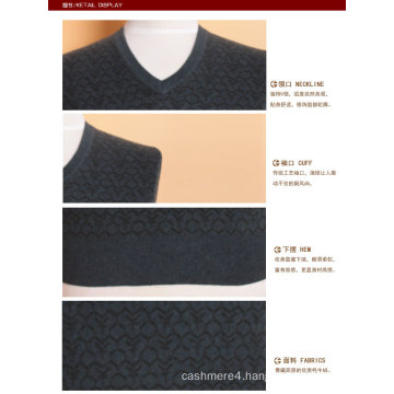 Yak Wool/Cashmere V Neck Pullover Long Sleeve Sweater/Clothing/Garment/Knitwear