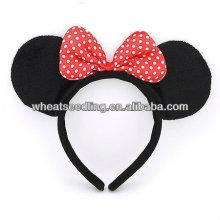 Heiß! MICKEY Design Hairband mit Blumenfleck Hair Bow HB19