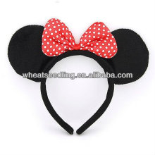 Hot! MICKEY Design Hairband With Flower Spot Hair Bow HB19
