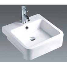 Bassin de comptoir en céramique carré de salle de bains (7089A)