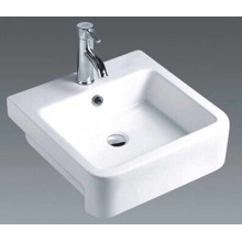 Bathroom Square Ceramic Countertop Basin (7089A)