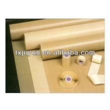 PTFE Тканые стеклоткани Ткань Термоизоляционная лента Клеящаяся тефлоновая пыль ROLL