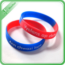 Cool Promotional Gift Items Custom Silicone Wristband for Christmas