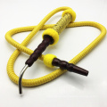 1.8m Metal Head Design Wooden Yellow Hookah Shisha Hose (ES-HH-010-1)
