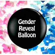 el género revela el globo gigante del confeti del estallido