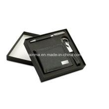 Business-Werbegeschenk-Set mit Schlüsselanhänger und Brieftasche