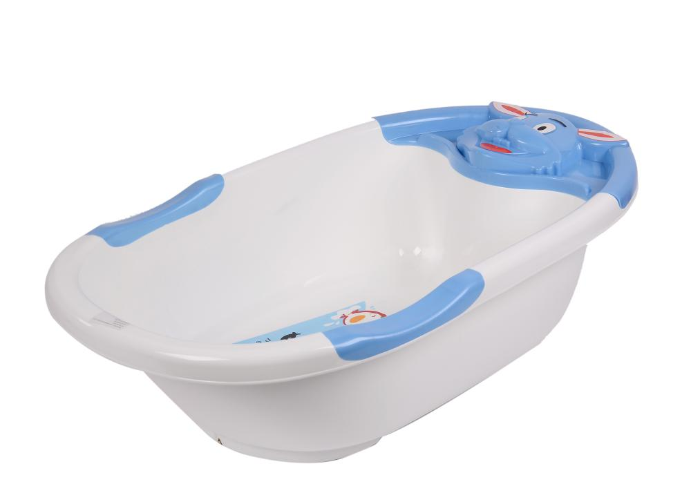 Rabbit Pattern Baby Bathtub with Colorful Skid Rails