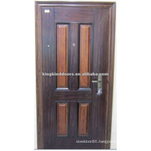Unusual colour cheap exterior Steel Security Door KKD-322 From China Top Brand KKD