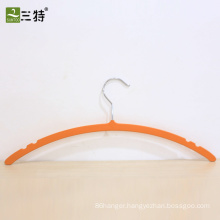 rubber coated thin plastic hanger for garment