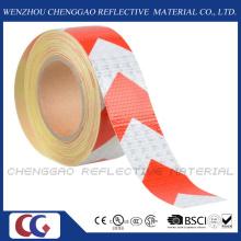 Flèches rouge et blanc bande réfléchissante de sécurité avec le réseau cristallin (C3500-AW)