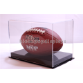 Gift Shop Promotional Counter Top Clear Acrylic Souvenir Rugby Or Soccer Ball Display Cases