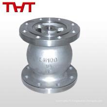 Clapet anti-retour vertical à bride en acier au carbone WCB