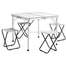 Folding camping picnic table set