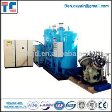Generador de soplado de vidrio Sistema de oxígeno CE aprobado