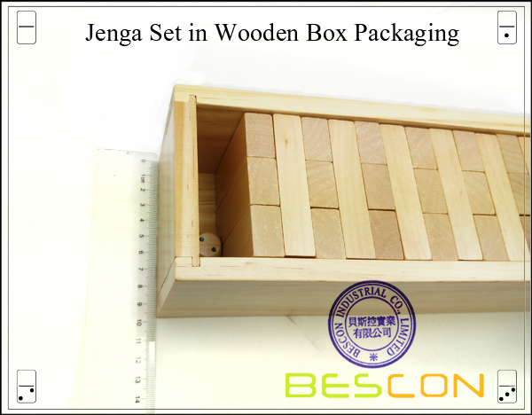 Jenga Set in Wooden Box Packaging-3