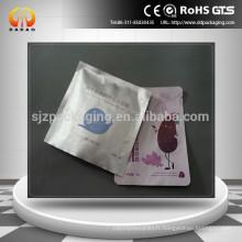 Sac d'emballage personnalisé sur papier imprimé imprimé en aluminium avec entaille de déchirure