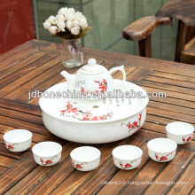 hot sell Tangshan bone china tea set teapot cup with good quality tea set