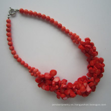 2015 último Coral collar, collar de encanto para mujer
