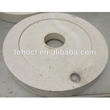 60% de alúmina Al2O3 mullita tienda de cerámica fábrica de placa redonda de cerámica