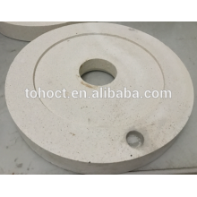 60% alumine Al2O3 mullite en céramique magasin moulin en céramique plaque ronde