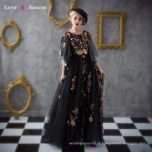 XXLF133 modelos de vestidos de noiva de designer sexo livre mulheres pretas vestido formal preto