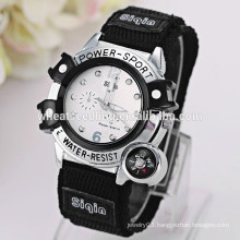Fabric watchband men sport watch
