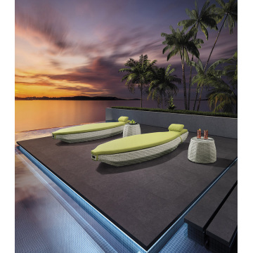 Design Especial Único Outdoor Leisure Wicker Sunbed
