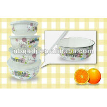 enamel storage bowl sets with PP lid