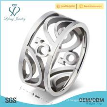 Prata homossexual promessa anéis de casamento para homens, aço inoxidável prata homem gay anel