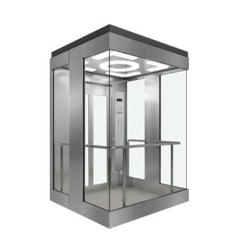 Sightseeing-Aufzug mit quadratischer Kabine