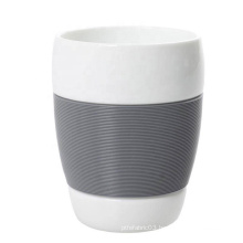 Heat insulation silicone rubber coffee cup sleeve