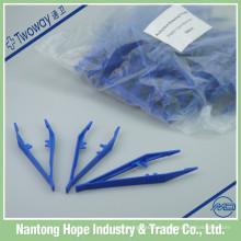 pinzas de plástico desechables de plástico