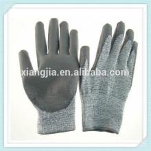 guantes de trabajo industrial revestidos de goma natural trabajan el guante de la seguridad, guante de seguridad de la seguridad de la explotación minera revestida industrial