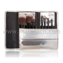 High-End Quality 9PCS Makeup Brushes with Stone Pattern Pouch