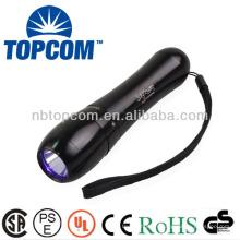 5 modes imperméables IP68 395nm lampe de poche uv